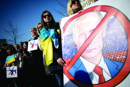 manifestación en Ucrania