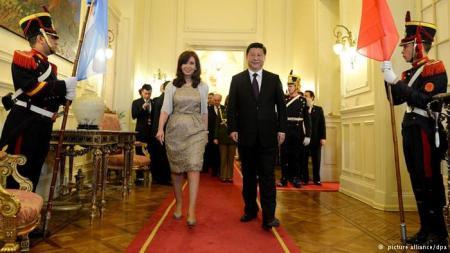 Cristina Fernández y Xi Jinping