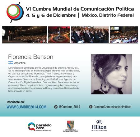VI Cumbre 2014 Flor Benson