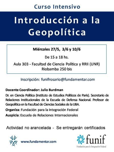 Invitación Curso Introducción a la Geopolítica