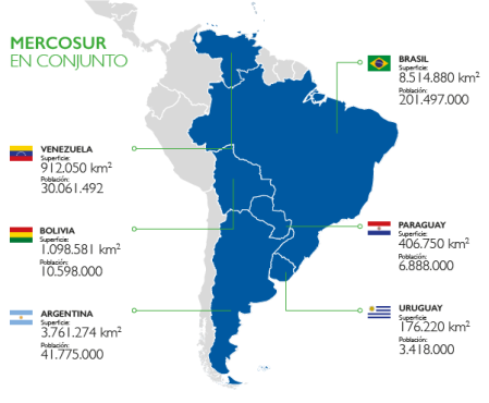 mapa mercosur
