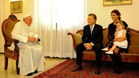 audiencia papal flia Macri