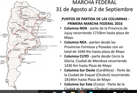 mapa de la marcha