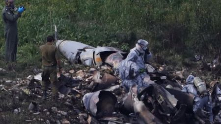 avión israelí caído
