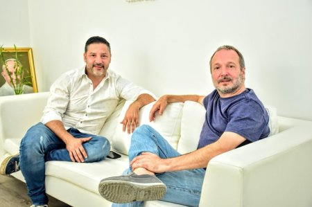 Menéndez Sabbatella y el padre Jorge